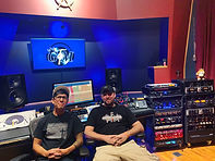 Brian and Nic in control room @ GFM Recording Studios in Kansas City