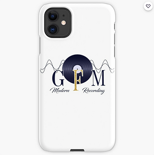 GFM Modern Recording Logo Apple iPhone Case