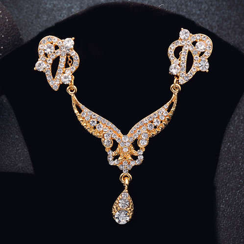 rose gold color high quality zircon jewelry set design 1