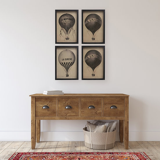 Wood Framed Hot Air Balloon Set