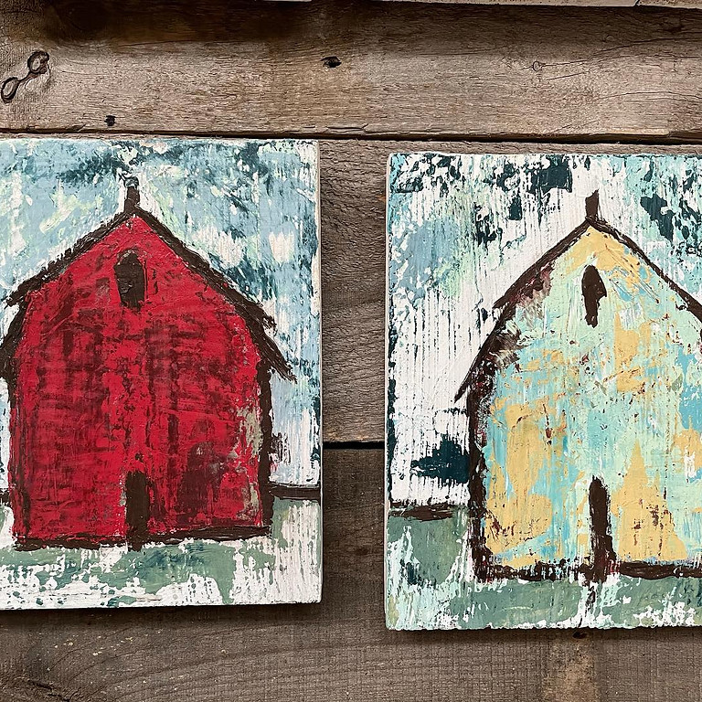 Chippy Tattered Barn with DIY Paint