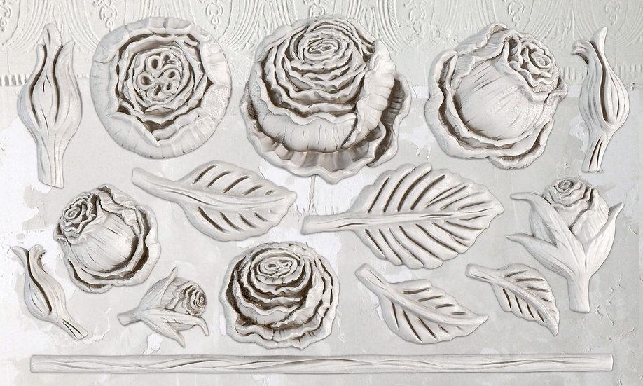 IOD Mould Heirloom Roses