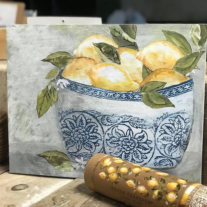 Boho Bowl of Lemons