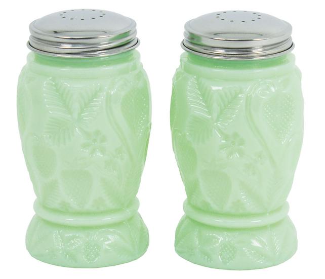 Jade Salt & Pepper Shakers Lg.