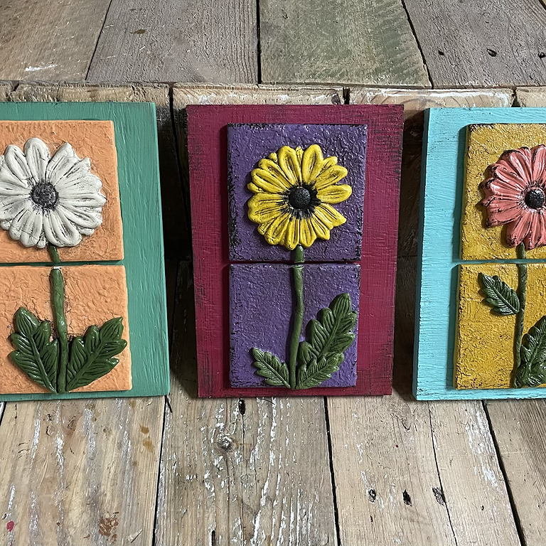 Flower Power Tiles-set of 3