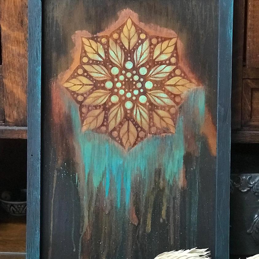 SOLD OUT-Patina Mandala Painting Class