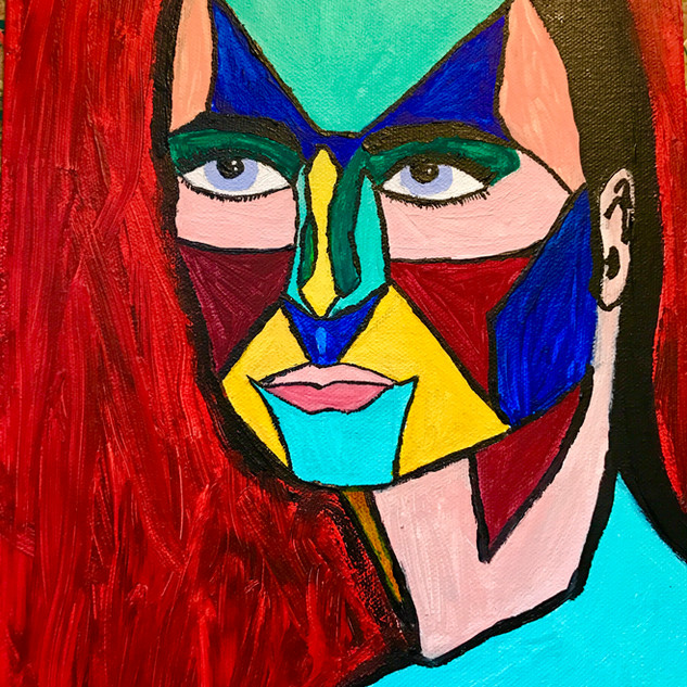 Mask (10 x 15 acrylic on canvas