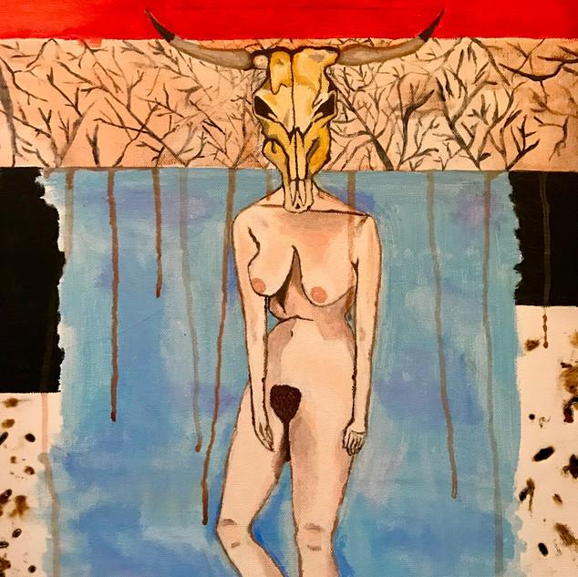 Shameless (20 x 12 acrylic on canvas)