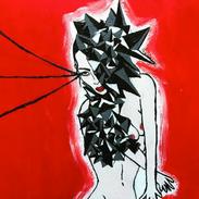 Intersellar Burst (12 x 12 acrylic on canvas)