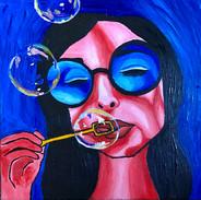 Bubblin' (12 x 12 acrylic on canvas)