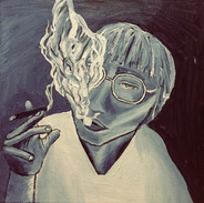 Liam (12 x 12 acrylic on canvas)
