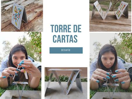 Juegos y desafíos con cartas: Torres de cartas
