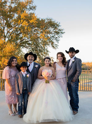 Quincenera Family Picture