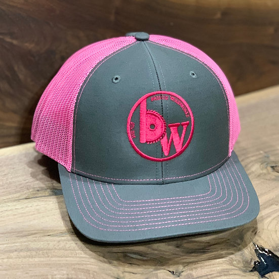 Hat : Charcoal/Neon Pink