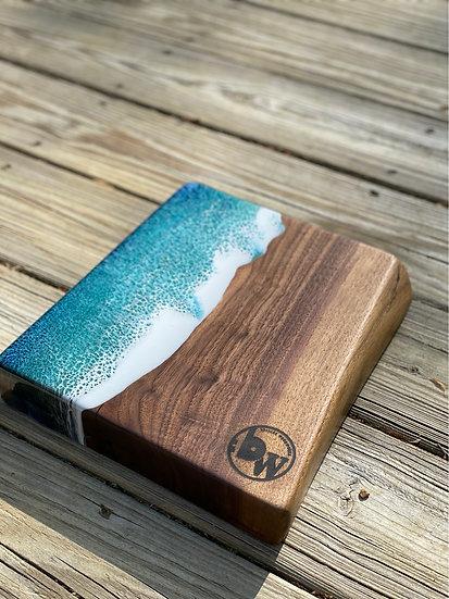 Walnut and waves charcuterie board
