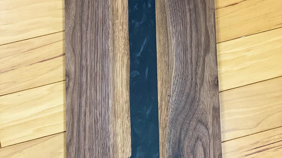 Walnut and black epoxy