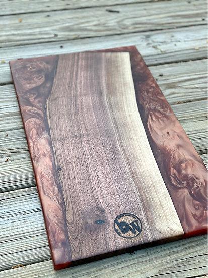 Walnut and copper charcuterie board