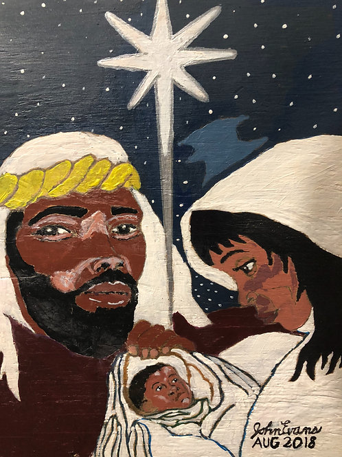 Art - Joseph and Mary with baby Jesus