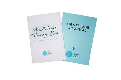Gratitude Journal and Colouring Book Package