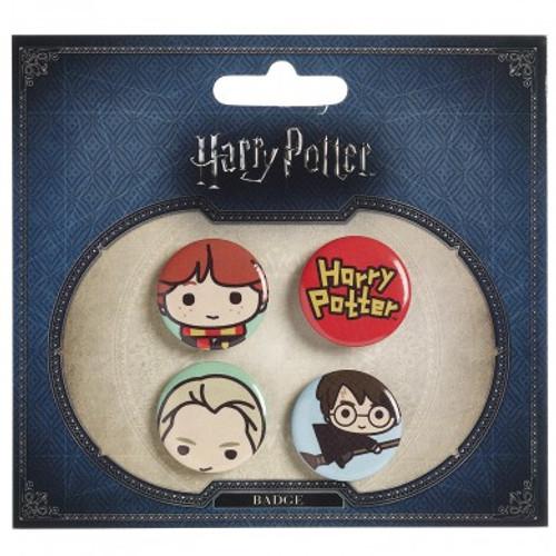 Harry Potter Cutie Button Badge  Ron/Draco/Harry Broom/Logo