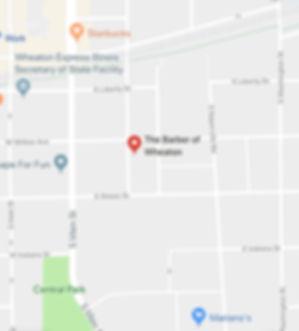 Map where barbershop is