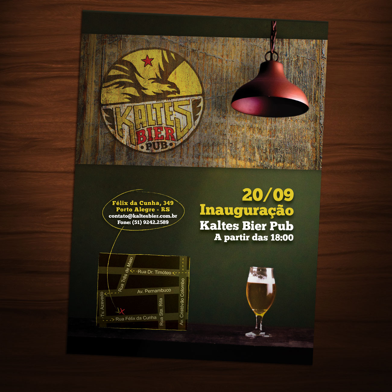 Flyer Kaltes Bier Pub