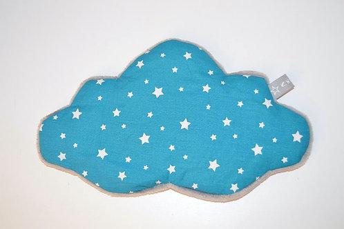 Bouillotte sèche bébé enfant grain de blé bio nuage bleu