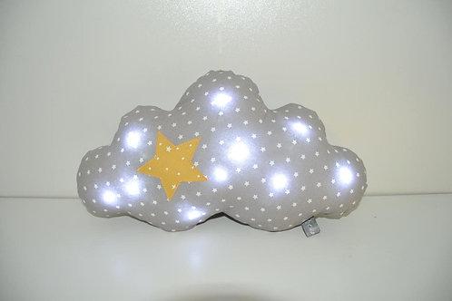 coussin nuage lumineux, veilleuse bébé à leds