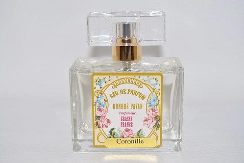 Eau de parfum femme, Coronille, parfum de Grasse, fabriqué  en France