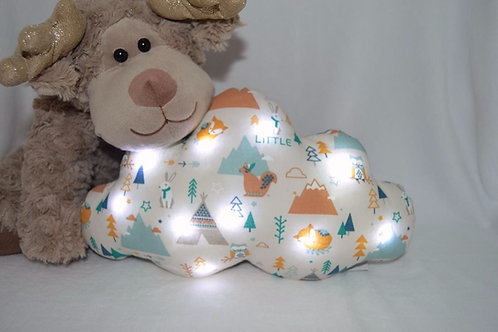Coussin nuage lumineux,  cadeau de naissance original,  fait main