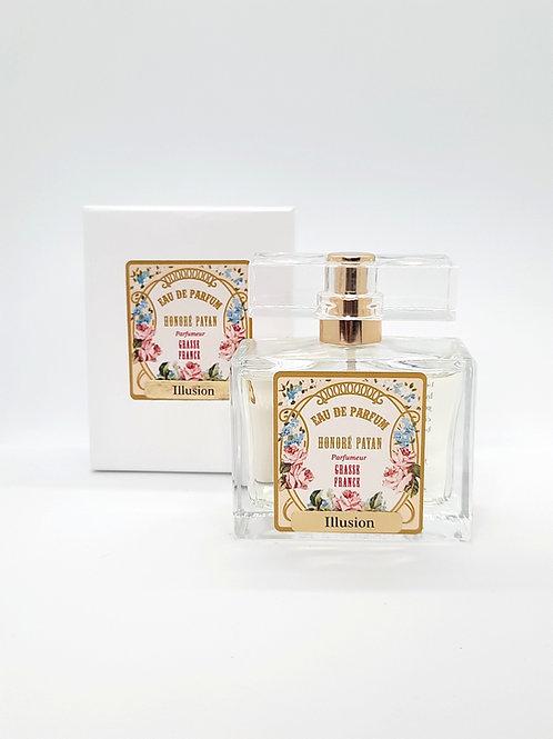 Illusion, eau de parfum de Grasse pour femme, 50ml, Honoré Payan