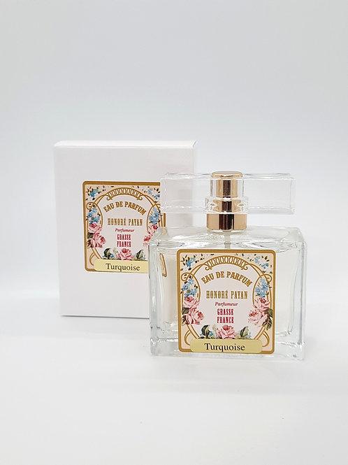 Eau de parfum femme, Turquoise, parfum de Grasse, fabriqué  en France