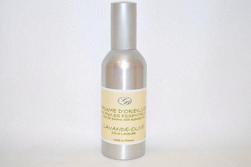 Brume d'Oreiller  aux huiles essentielles - LAVANDE-OLIVE - 100 ml