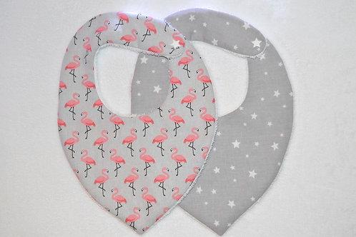 Lot bavoir bandana étoile gris bébé cadeau naissance original fait main