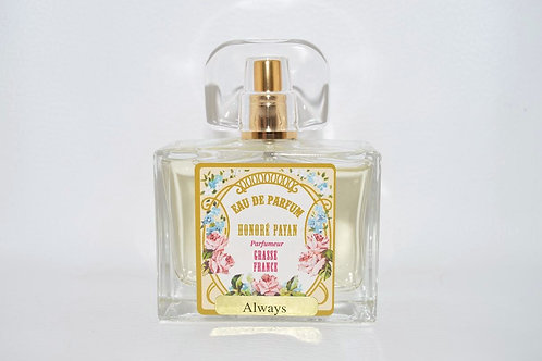 Eau de parfum femme, Always, parfum de Grasse, fabriqué  en France