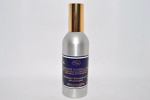 Brume d'Oreiller aux huiles essentielles, ORANGE BERGAMOTTE, 100 ml