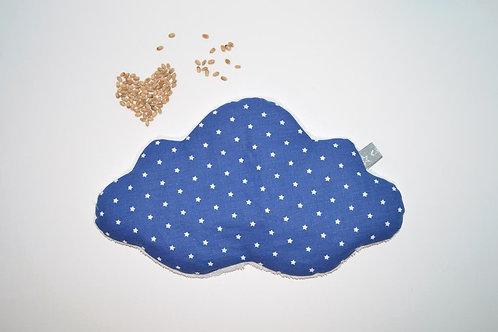 Bouillotte sèche, bébé enfant, blé bio nuage, fabriqué en France