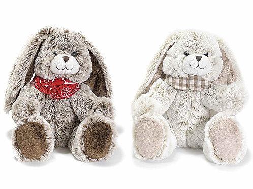 Peluche douce lapin bandana, cadeau bébé anniversaire