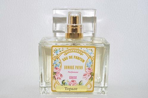 Eau de parfum femme, Topaze, parfum de Grasse, fabriqué  en France