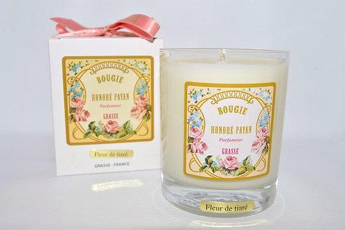 Bougie parfumée artisanale, parfum Fleur de coton, 250 ml, Parfum de Grasse