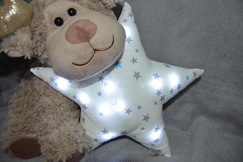 Veilleuse bébé étoiles blanches à leds