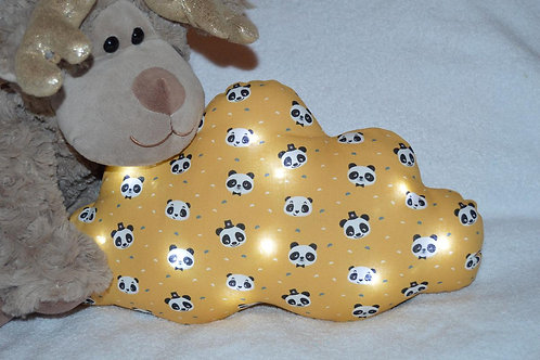 veilleuse bébé nuage panda idée cadeau de naissance jaune moutade