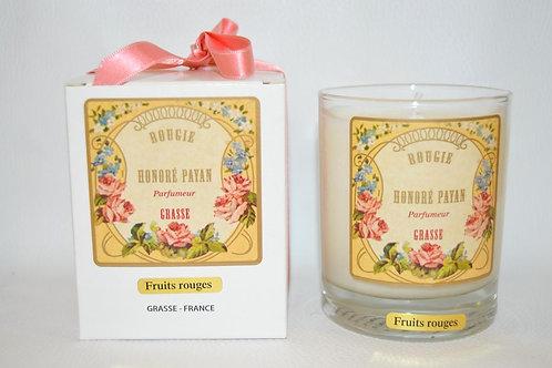 Bougie parfumée artisanale, RUITS ROUGES, 250 ml, Parfum de Grasse, cire de soja
