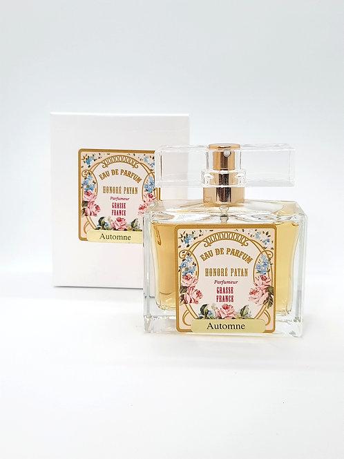Automne, eau de parfum de Grasse pour femme, flacon 50ml, Honoré Payan