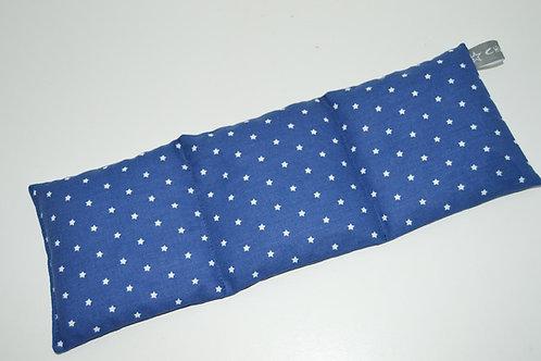 Bouillotte sèche - blé bio - tissu coton bleu marine étoilé
