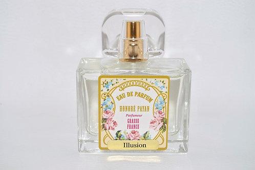Eau de parfum femme, Illusion, parfum de Grasse, fabriqué  en France