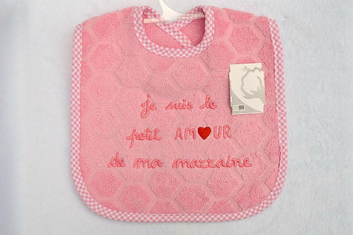 bavoir message humour cadeau marraine naissance baby shower