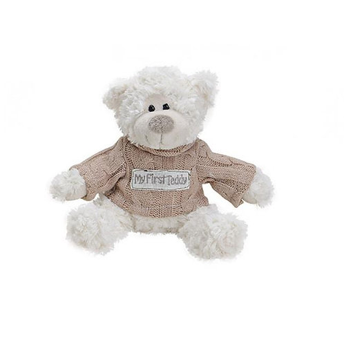 "Peluche Ourson ""My first teddy"" - rose - 20 cm"