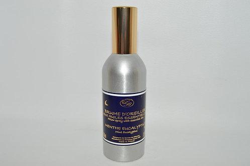Brume d'Oreiller aux huiles essentielles, parfum MENTHE EUCALYPTUS, 100 ml
