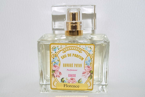 Eau de parfum femme, Florence, parfum de Grasse, fabriqué  en France
